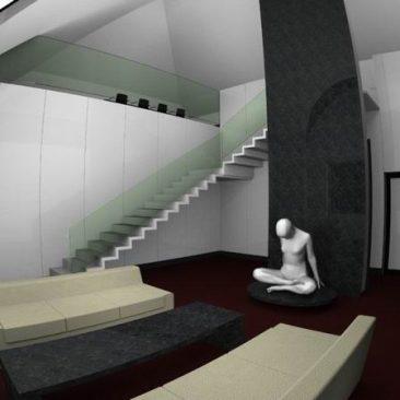 Interiér bytu ve vile ŽDB – Bohumín